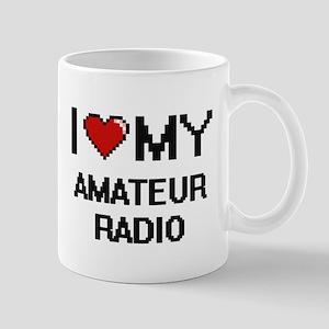 I Love My Amateur Radio Digital Retro Design Mugs