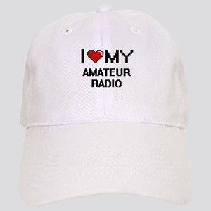 I Love My Amateur Radio Digital Retro Design Cap