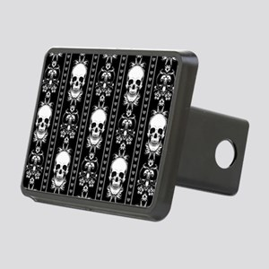 Baroque Skull Stripe Patte Rectangular Hitch Cover