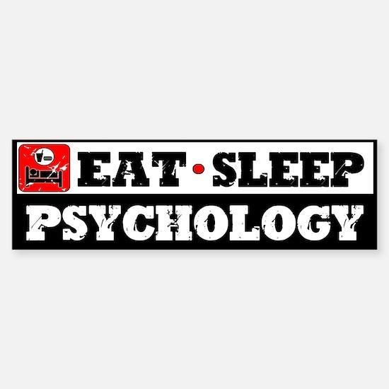 Eat Sleep Psychology Sticker (Bumper)