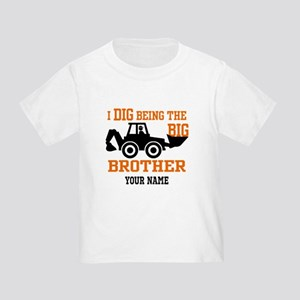 Personalized Big Brother Backhoe T Toddler T-Shirt