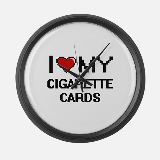 I Love My Cigarette Cards Digital Large Wall Clock