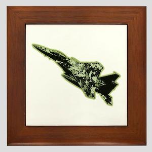 F-15 Eagle - Olive Drab Framed Tile