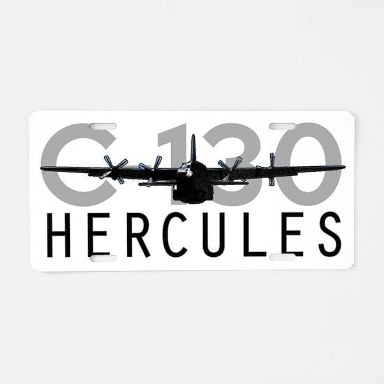 C-130 Hercules Aluminum License Plate