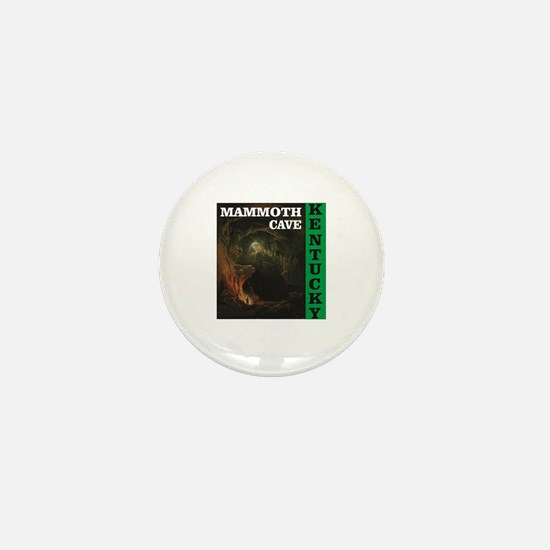green mammoth cave art Mini Button