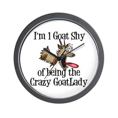 Crazy Goat Lady Wall Clock