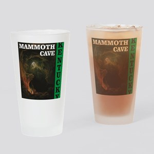 green mammoth cave art Drinking Glass