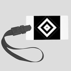 Black/Silver Diamond Pattern Luggage Tag