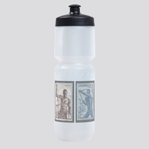 African Spear Fisherman and Bow Hunt Sports Bottle