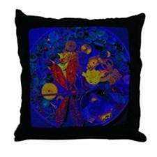 Blue Steampunk Dragonfly Throw Pillow