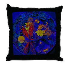 Blue Steampunk Dragonfly Throw Pillow