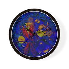 Blue Steampunk Dragonfly Wall Clock