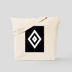 Black/Silver Diamond62 Tote Bag