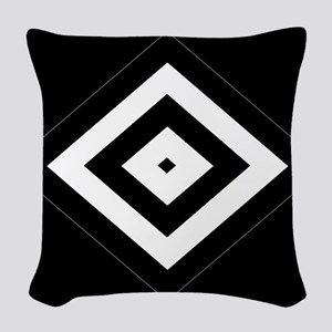 BlackSilver Diamond Pattern112 Woven Throw Pillow