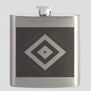 BlackSilver Diamond Pattern112 Flask