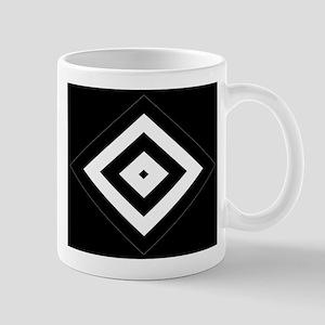 BlackSilver Diamond Pattern112 Mugs