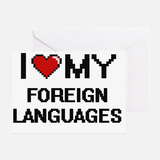 Unique Foreign language Greeting Card