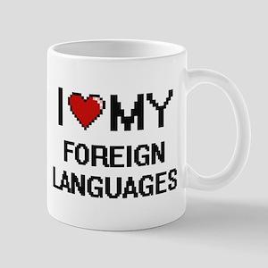 I Love My Foreign Languages Digital Retro Des Mugs