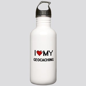 I Love My Geocaching D Stainless Water Bottle 1.0L
