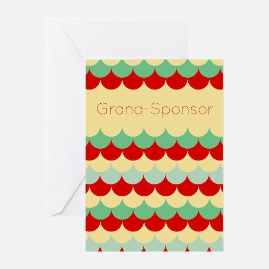 Grand Sponsor (abstract Rain) Greeting Cards