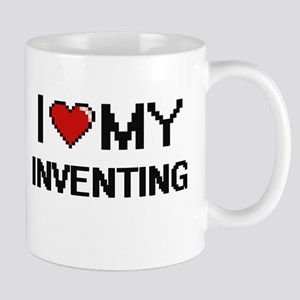I Love My Inventing Digital Retro Design Mugs