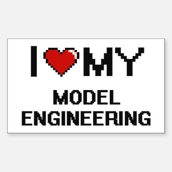 I Love My Model Engineering Digital Retro Decal