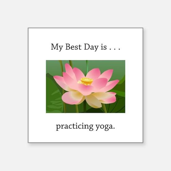 Best Day Pink Yoga Lotus Sticker