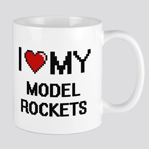 I Love My Model Rockets Digital Retro Design Mugs