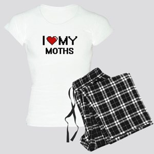 I Love My Moths Digital Ret Women's Light Pajamas