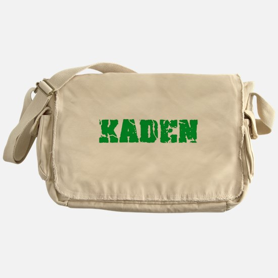 Kaden Name Weathered Green Design Messenger Bag