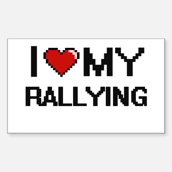 I Love My Rallying Digital Retro Design Decal