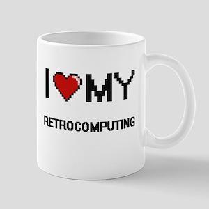 I Love My Retrocomputing Digital Retro Design Mugs