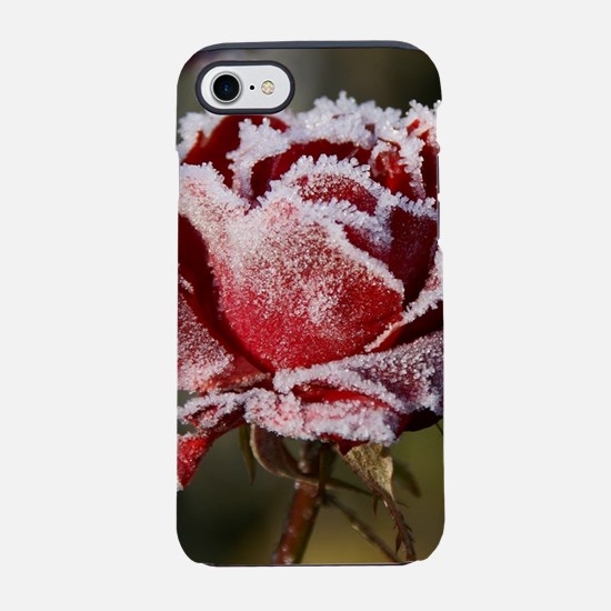 Rose With Frost On It iPhone 8/7 Tough Case