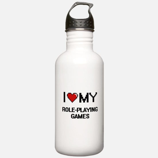 I Love My Role-Playing Water Bottle