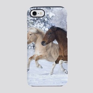Horses Running In The Snow iPhone 8/7 Tough Case