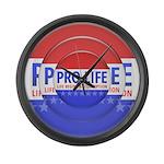 Pro Life Large Wall Clock