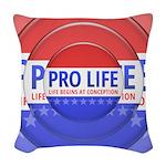 Pro Life Woven Throw Pillow