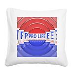 Pro Life Square Canvas Pillow