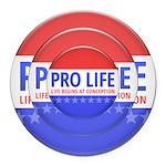 Pro Life Round Car Magnet