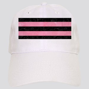 STRIPES2BLACK MARBLE & PINK WATERCOLOR Cap