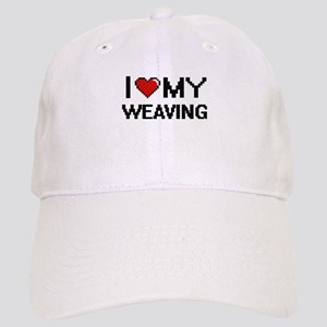 I Love My Weaving Digital Retro Design Cap