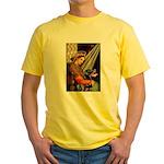 Madonna/Rottweiler Yellow T-Shirt