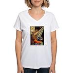 Madonna/Rottweiler Women's V-Neck T-Shirt