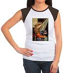 Madonna/Rottweiler Women's Cap Sleeve T-Shirt