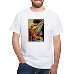 Madonna/Rottweiler White T-Shirt