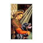 Madonna/Rottweiler Sticker (Rectangle)