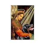 Madonna/Rottweiler Rectangle Magnet (10 pack)