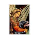 Madonna/Rottweiler Rectangle Magnet