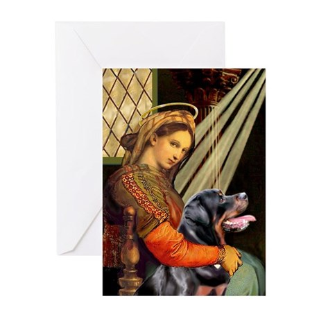 Madonna/Rottweiler Greeting Cards (Pk of 10)