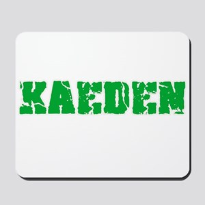 Kaeden Name Weathered Green Design Mousepad